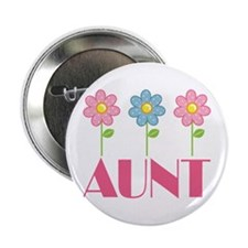 "Aunt Gift (Flowered) 2.25"" Button"