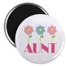 Aunt Gift (Flowered) Magnet