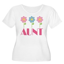 Aunt Gift (Flowered) T-Shirt