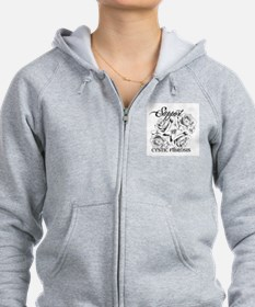 Rose Tattoo: Support Cystic Fibrosis Zip Hoodie