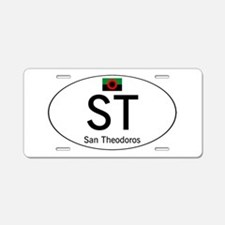 Car code San Theodoros Aluminum License Plate