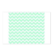 Mint Green Zigzags. Postcards (Package of 8)