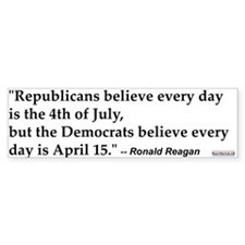 Ronald Reagan Quote #1 Bumper Bumper Sticker