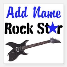 "ROCK STAR Square Car Magnet 3"" x 3"""