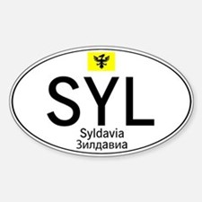 Car code Syldavia - White Sticker (Oval)