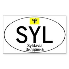 Car code Syldavia - White Decal
