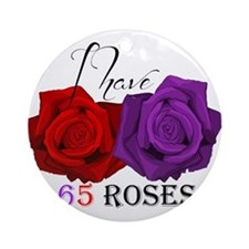 Two Roses: I have Cystic Fibrosis Ornament (Round)