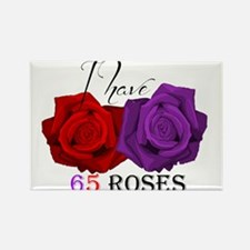 Two Roses: I have Cystic Fibrosis Rectangle Magnet