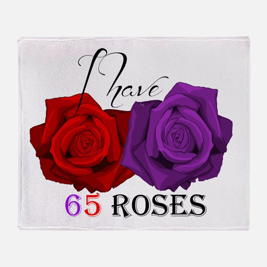 Two Roses: I have Cystic Fibrosis Throw Blanket