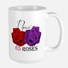 Two Roses: I have Cystic Fibrosis Large Mug