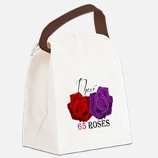 Two Roses: I have Cystic Fibrosis Canvas Lunch Bag