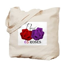 Two Roses: I have Cystic Fibrosis Tote Bag