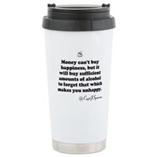 Money cant buy happiness Thermos Mug