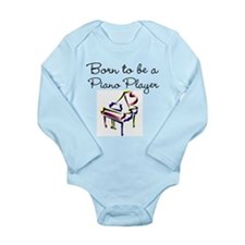 PIANO PLAYER Long Sleeve Infant Bodysuit