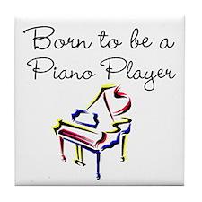 PIANO PLAYER Tile Coaster