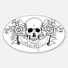 Skull Rose: Surviving C.F. Sticker (Oval)