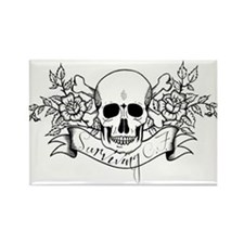 Skull Rose: Surviving C.F. Rectangle Magnet