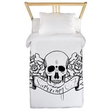 Skull Rose: Surviving C.F. Twin Duvet