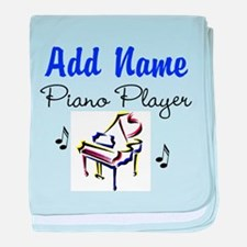 PIANO PLAYER baby blanket