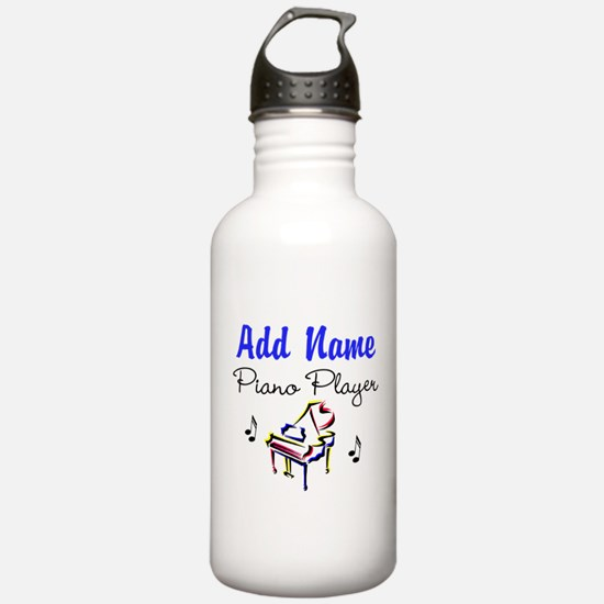PIANO PLAYER Sports Water Bottle