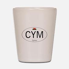Car code Wales - White Shot Glass
