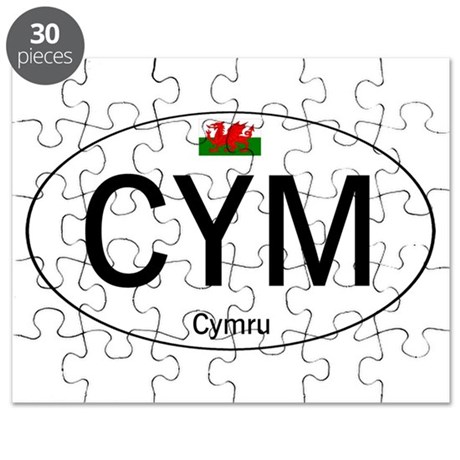 Car code Wales - White Puzzle