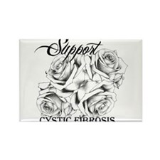 Rose Tattoo: Support Cystic Fibrosis Rectangle Mag