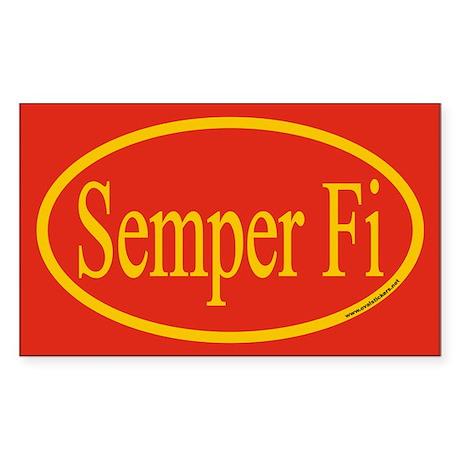 Semper Fi Euro Oval Sticker, Sticker