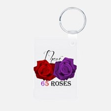 Two Roses: I have Cystic Fibrosis Keychains