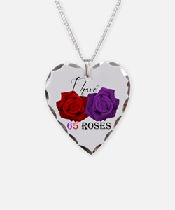 Two Roses: I have Cystic Fibrosis Necklace Heart C