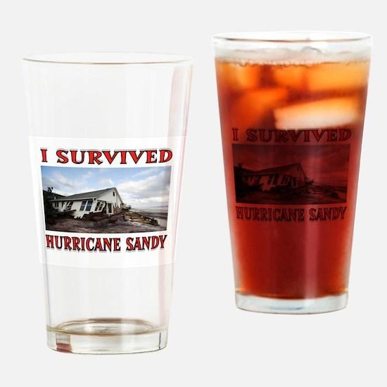 HURRICANE SANDY Drinking Glass