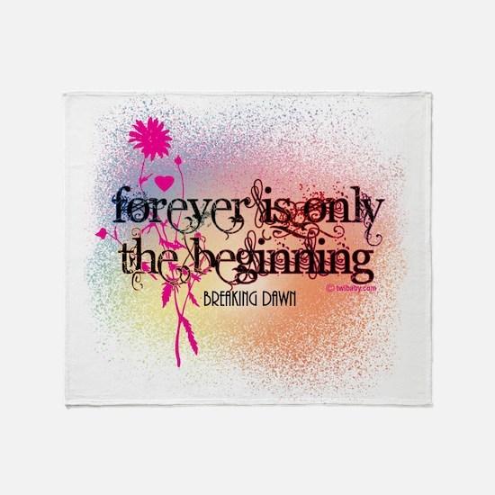 Twilight Breaking Dawn Forever Throw Blanket