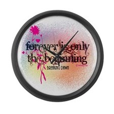 Twilight Breaking Dawn Forever Large Wall Clock
