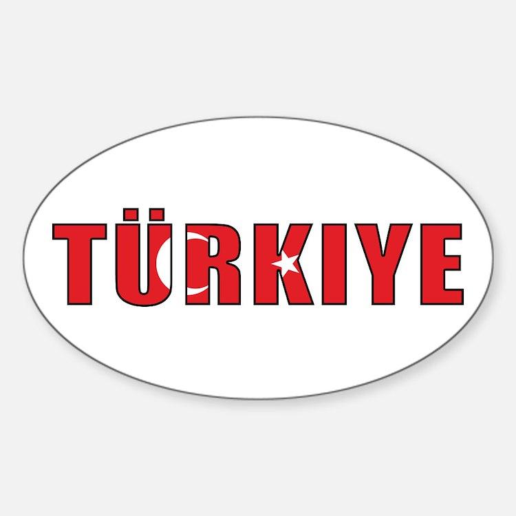 Turkey Oval Decal