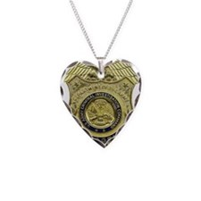 CID Agent badge Necklace Heart Charm