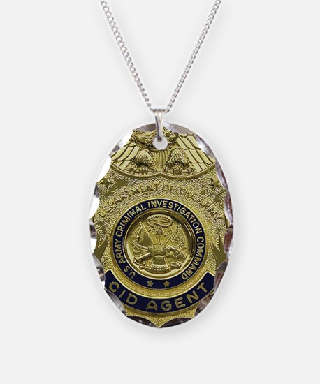 CID Agent badge Necklace Oval Charm
