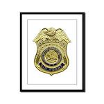 CID Agent badge Framed Panel Print