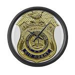 CID Agent badge Large Wall Clock