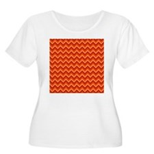 Zig Zags in Warm Colors. T-Shirt