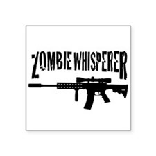 "Zombie Whisperer 2 Square Sticker 3"" x 3"""