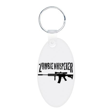 Zombie Whisperer 2 Aluminum Oval Keychain