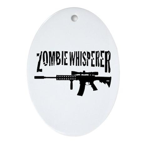 Zombie Whisperer 2 Ornament (Oval)