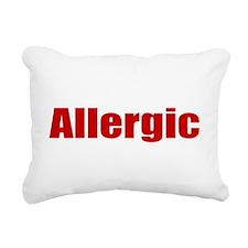 Allergic Rectangular Canvas Pillow