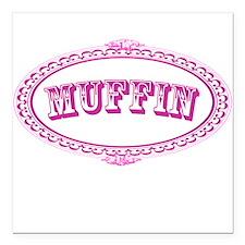 "Muffin Square Car Magnet 3"" x 3"""
