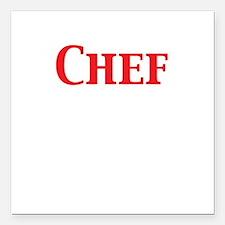 "Chef Square Car Magnet 3"" x 3"""