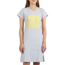Light Yellow Zigzags. Women's Nightshirt