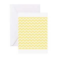 Light Yellow Zigzags. Greeting Card