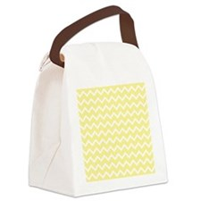 Light Yellow Zigzags. Canvas Lunch Bag