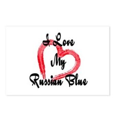 I Love My Russian Blue Postcards (Package of 8)