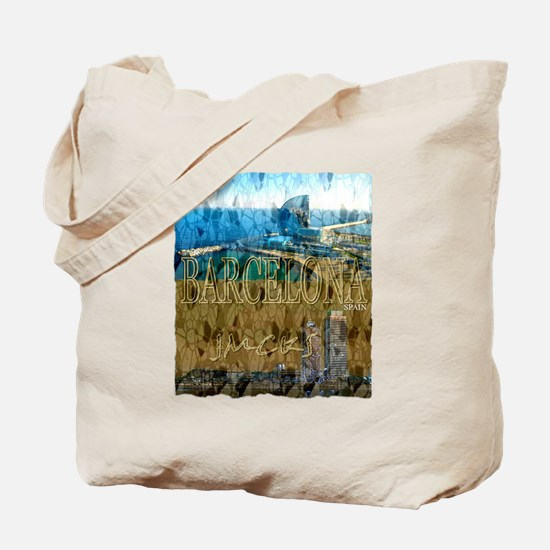 barcelona spain art illustration Tote Bag
